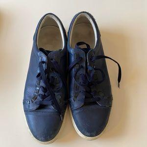 Navy Acne Sneakers